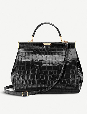 ASPINAL OF LONDON The Dockery large embossed leather handbag
