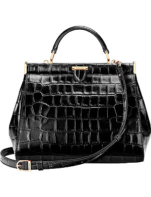 ASPINAL OF LONDON Small Florence Frame embossed leather tote