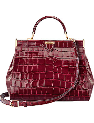 ASPINAL OF LONDON The Dockery small embossed leather handbag