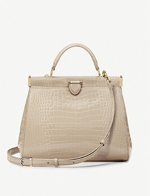 ASPINAL OF LONDON Florence Frame small crocodile-embossed leather tote bag