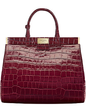 ASPINAL OF LONDON Florence large embossed leather handbag