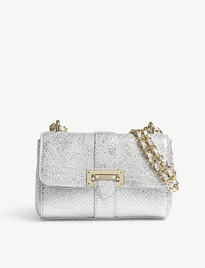 ASPINAL OF LONDON Lottie micro python-embossed leather cross-body bag