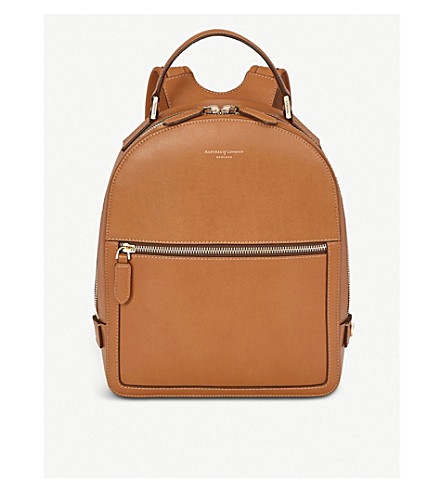 4eee692b76 ASPINAL OF LONDON - Mount Street small smooth leather backpack ...