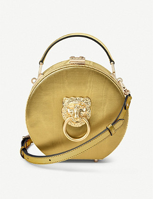 ASPINAL OF LONDON Hat Box Lion leather clutch bag