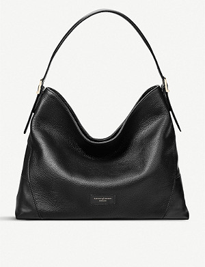 ASPINAL OF LONDON Small 'A' leather hobo bag
