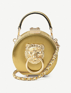 ASPINAL OF LONDON Lion micro leather hat box bag