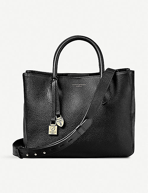 ASPINAL OF LONDON: London small leather tote bag