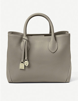 ASPINAL OF LONDON: Midi London leather tote bag