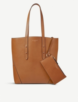 ASPINAL OF LONDON Essential calfskin leather tote bag