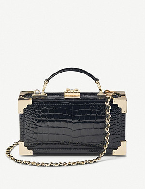 ASPINAL OF LONDON Trinket Box crocodile-embossed leather crossbody bag