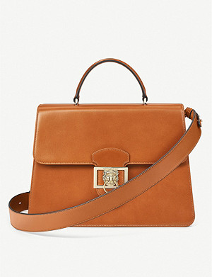 ASPINAL OF LONDON Large Lion Lansdowne leather top-handle bag