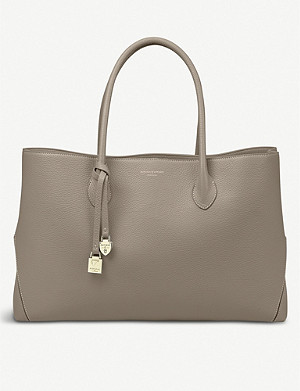 ASPINAL OF LONDON London large leather tote bag