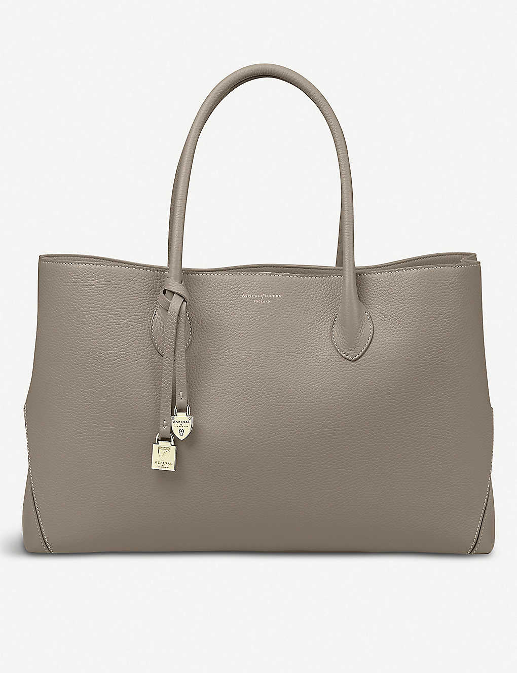 ASPINAL OF LONDON: London large leather tote bag