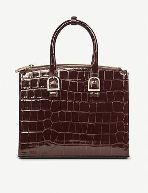 ASPINAL OF LONDON Madison midi croc-effect leather tote bag
