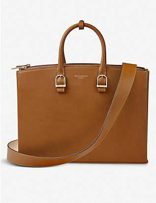 ASPINAL OF LONDON: Madison leather shoulder bag