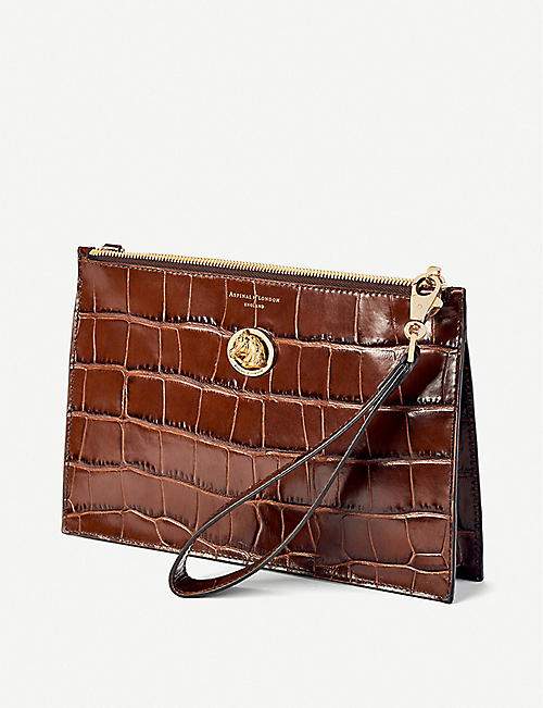 ASPINAL OF LONDON Soho leather clutch bag