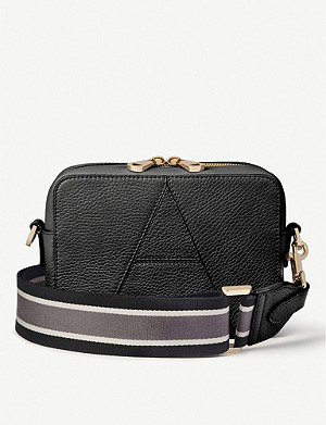 ASPINAL OF LONDON A-embroidered camera cross-body leather bag