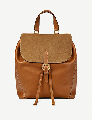 ASPINAL OF LONDON Equestrian leather backpack
