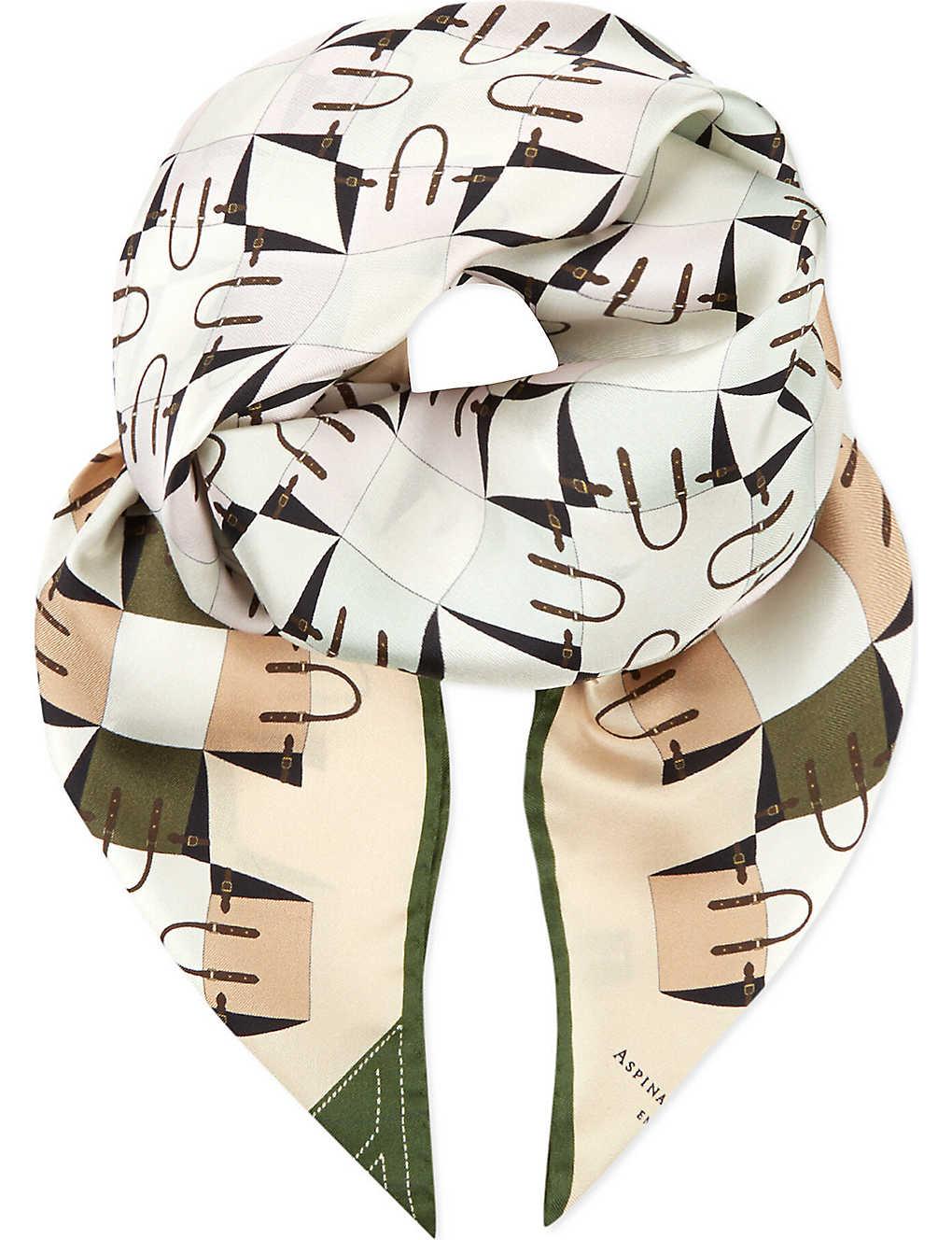 338d3914d ASPINAL OF LONDON - Marylebone silk scarf | Selfridges.com