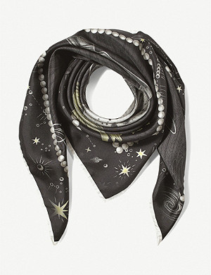 ASPINAL OF LONDON Pegasus Constellation silk scarf 90cm x 90cm