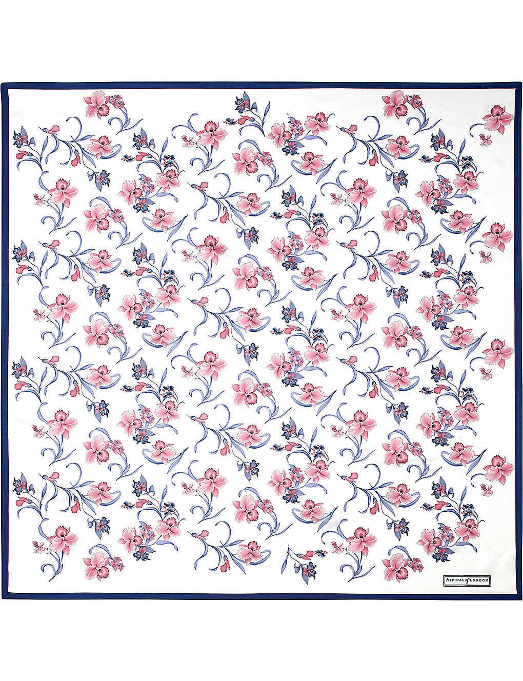 eb49db95c ASPINAL OF LONDON - Mini flowers silk scarf | Selfridges.com