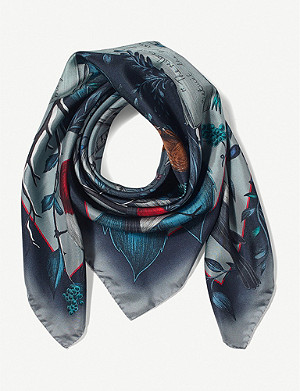 ASPINAL OF LONDON Robin silk scarf 90cm x 90cm