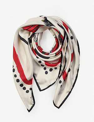 ASPINAL OF LONDON Giles x Aspinal Guard Girls printed silk scarf