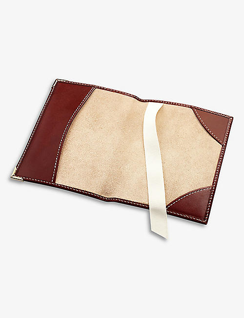 ASPINAL OF LONDON Plain leather passport cover