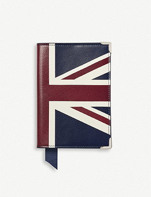 ASPINAL OF LONDON Brit Plain leather passport cover