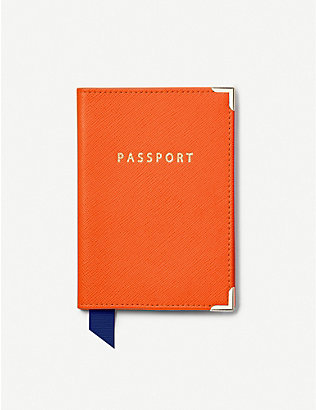 ASPINAL OF LONDON: Classic leather passport cover