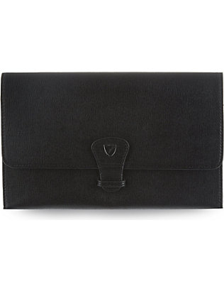 ASPINAL OF LONDON: Classic leather travel wallet