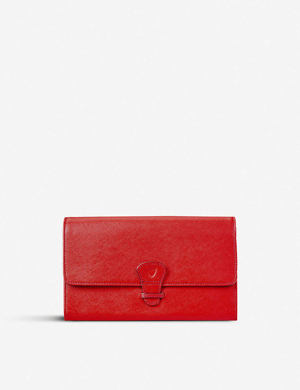 ASPINAL OF LONDON: Saffiano leather classic travel wallet