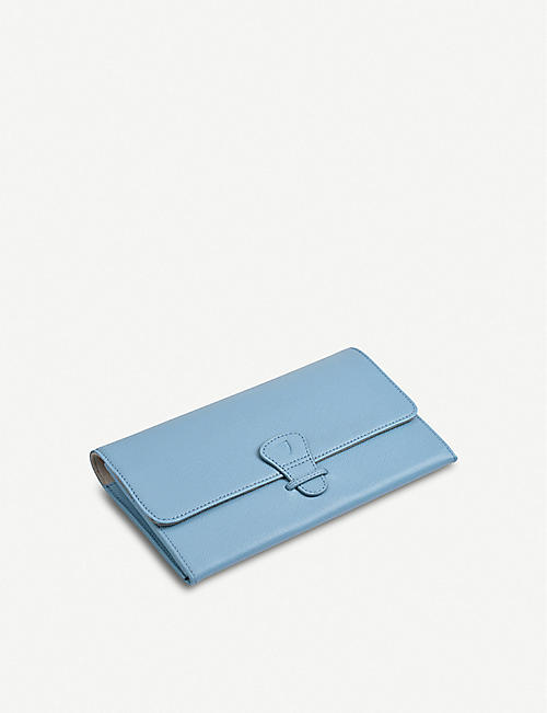 ASPINAL OF LONDON Saffiano leather classic travel wallet