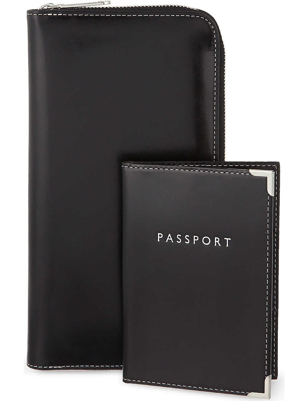 ASPINAL OF LONDON: Zipped travel wallet and passport cover