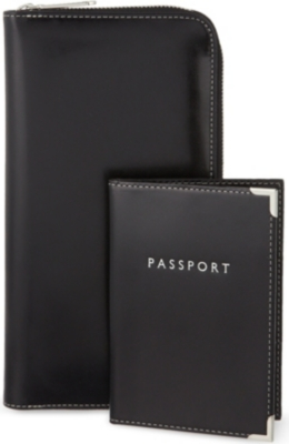 ASPINAL OF LONDON Zipped travel wallet and passport cover