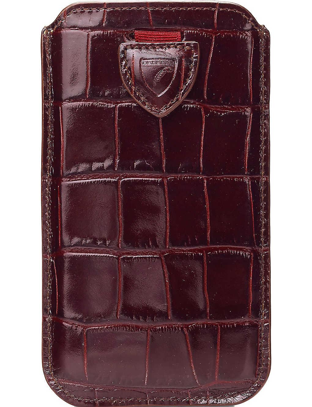 buy popular b9bb0 9b5f4 ASPINAL OF LONDON - Mock-croc leather iPhone 6 Plus case ...