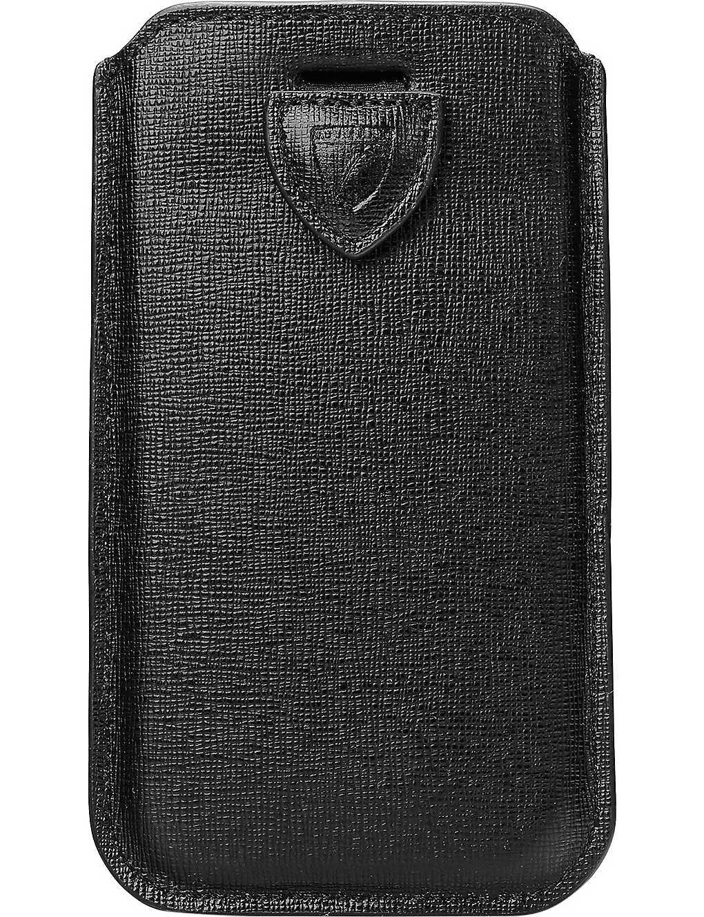 online retailer 96446 2f002 ASPINAL OF LONDON - Slim-fit leather iPhone 6 Plus case   Selfridges.com