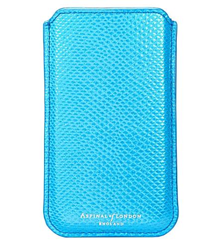 wholesale dealer cba49 d029e ASPINAL OF LONDON - Lizard-effect leather iphone 6 plus case ...
