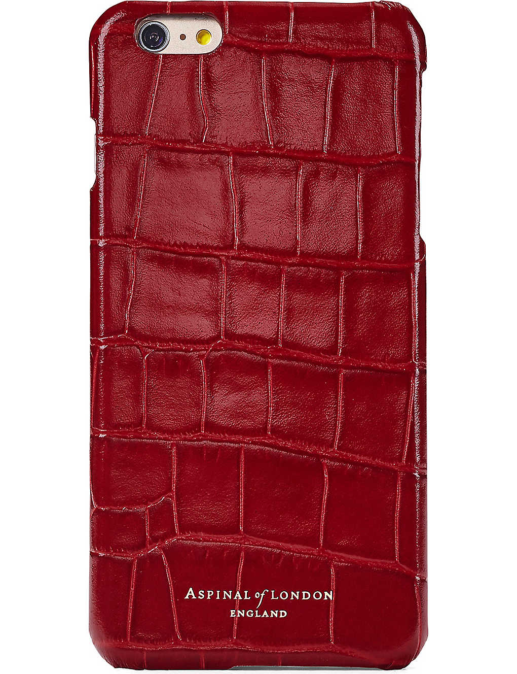 designer fashion 3132c 6201a ASPINAL OF LONDON - Crocodile-embossed leather iPhone 7 case ...