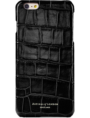 newest d2b30 4419a ASPINAL OF LONDON - iPhone 7+ crocodile-embossed leather cover case ...