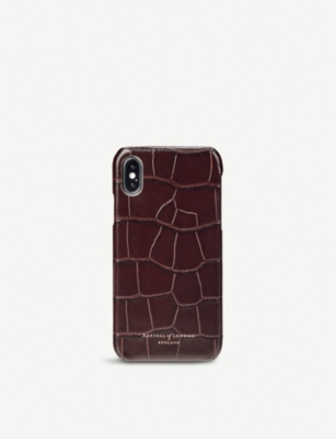 ASPINAL OF LONDON iPhone X leather case