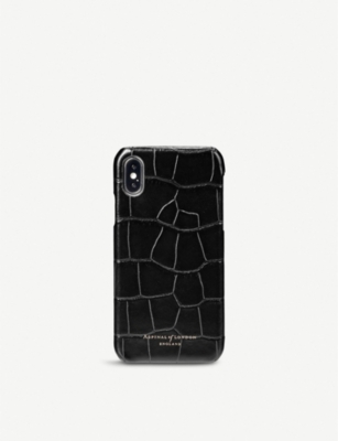 ASPINAL OF LONDON Leather iPhone X case