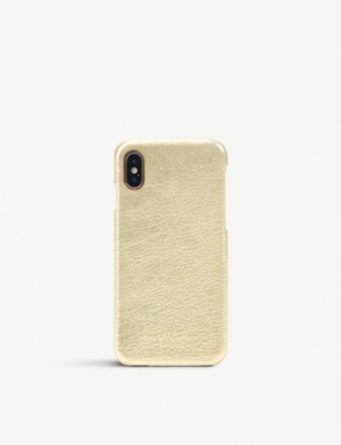 ASPINAL OF LONDON iPhone X metallic-leather cover case