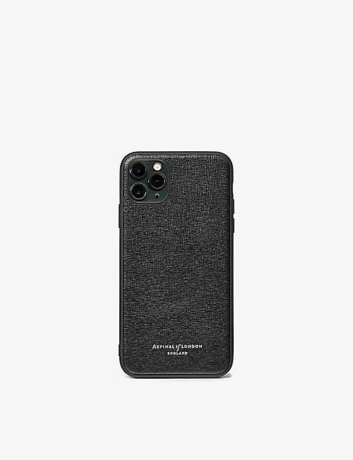 ASPINAL OF LONDON: iPhone 11 Pro Max leather phone case