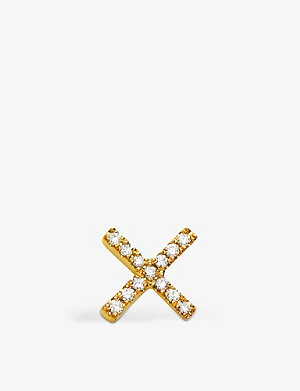 LOQUET Diamond Kiss 18ct yellow-gold and white diamond charm