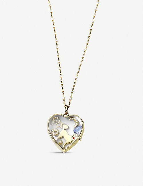 LOQUET Moon 18ct yellow-gold and diamonds charm