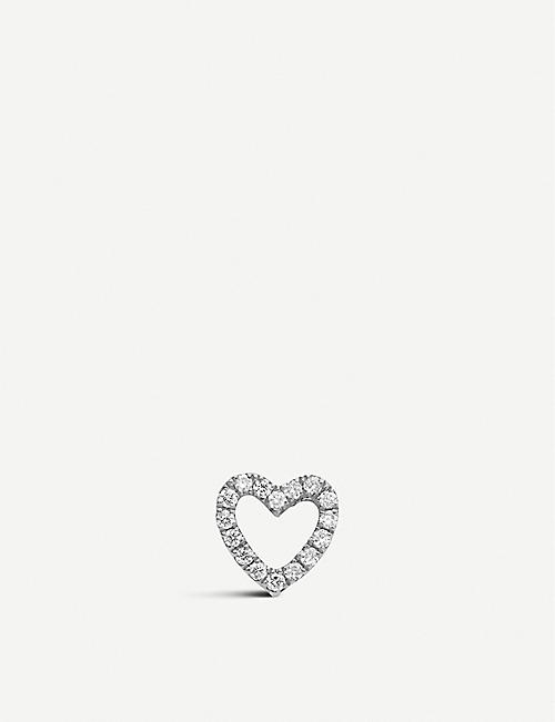 LOQUET Diamond Heart 18ct white-gold and diamond charm
