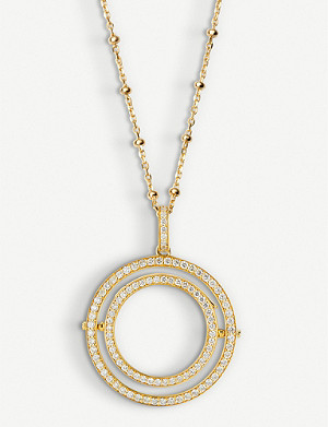 LOQUET Revolving 18ct yellow-gold and 1.15ct diamond locket necklace