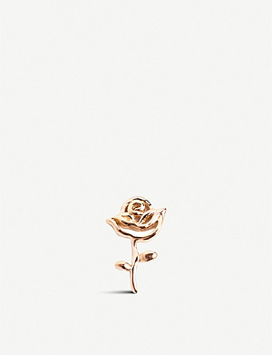 LOQUET Rose-shaped 18ct gold charm