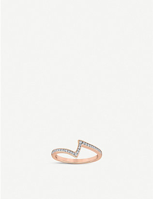 VASHI: Lovestrike 18k rose-gold and 0.30ct diamond ring